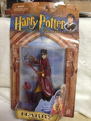 Harry Potter and Sorcerer's Stone Harry Quidditch Team Action Figure-NEW IN PKGd