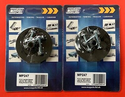 2 x Towing Socket 12N/12S Type 7 Pin Rubber Gasket/Seal 3 x M5 x 35mm nuts/bolts