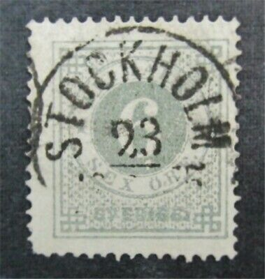nystamps Sweden Stamp # 21 Used $95