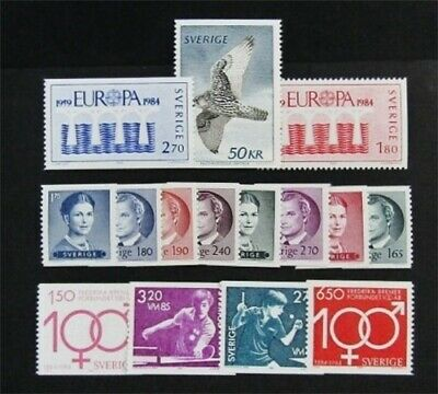 nystamps Sweden Stamp # 1351//1531 Mint OG NH $32