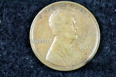 ESTATE FIND 1911 - S Lincoln Wheat Cent!! #J01118