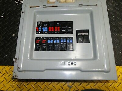 100 AMP BREAKER Panel With Circuit Breakers Lc1120S Crouse Hinds/ Murray