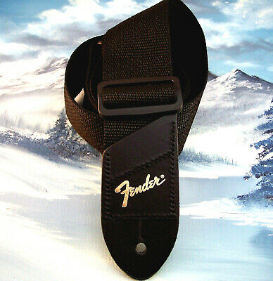 Genuine Fender ~ Gold Logo Pick Pocket Guitar Strap