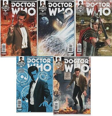 Doctor Who #11 12 13 14 15 New Adventures 11th Doctor photo cover comic book set
