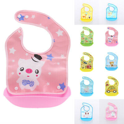 Infant Bibs Waterproof Feeding Newborn Baby Kids Cotton Lunch Animal printed