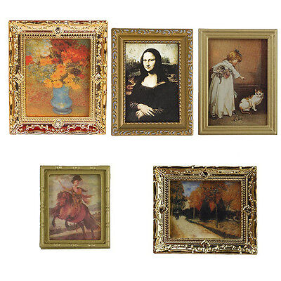 1:12 Dollhouse Miniature Framed Wall Painting Home Decor Room Items-Tool
