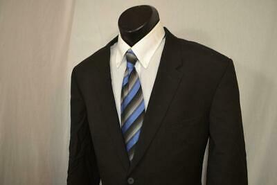 1052 Mens Burberry London Black Solid 2 Button Sports Blazer Jacket Size 46 R