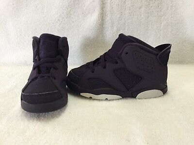 ae1be8f6e96126 NIKE AIR JORDAN 6 Retro Purple Dynasty Toddler Girls Shoes~size 9 C ...