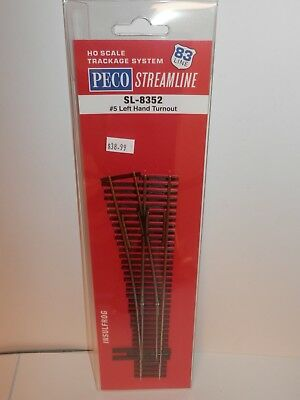 Peco HO Scale Code 83 # 6 Left Hand Insulfrog Turnout NEW SL-8362