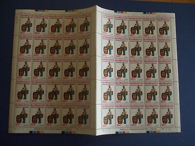 Stamps Barbados 1978 Industries Of Barbados - 4 Complete Sheets Of 50 Mnh