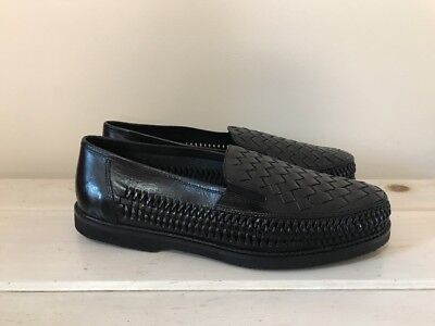 "31962934095 DEER STAGS ""Tijuana""Weave Leather Slip On Loafers Mens Size 11 3E NEW"