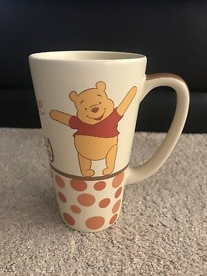 Exclusive Disney Store Winnie The Pooh Tall Latte Mug Cup Collectable