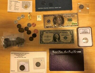Estate Sale 40 Coins Collection, Mint Sets, Gold, Silver, Pf70 Coin Lot #1