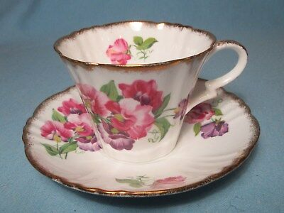 Pansies TEA CUP & SAUCER  Vintage Royal Standard England Fine China
