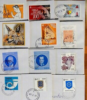 Estonia: 2018-2019  Stamps On Letters, Sent March 2019