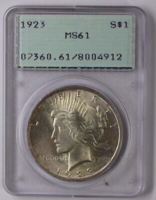 PCGS Certified MS-61 1923 Peace Silver Dollar MS61