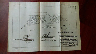 1919 Diagram of 2-stage Proposition Upper Stations Tunnels Maid of Mist Pool NY