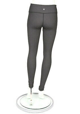 452c7f6021 LULULEMON GRAY BLACK Diamond Pique Leggings Wunder size 6 - INV 5487 ...