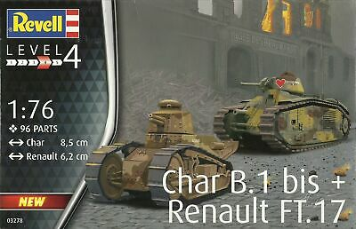 Revell 1/76 Char B1 bis and Renault FT-17 (RV3278)