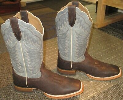 954ae6c5b3a New Mens ARIAT Relentless Record Breaker Western Leather Cowboy Boots sz 11  D