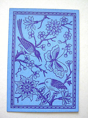 Single Swap Antique English Square Corner No Indice Birds Playing Card 1865
