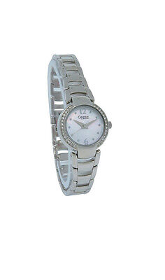 Caravelle by Bulova 43L119 Women's Round Analog Mother of Pearl & Crystal Watch