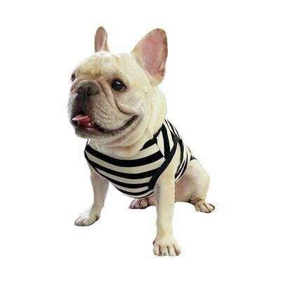 Frenchie Pet Clothing Classic Black White Stripe for French Bulldog or Pug fit