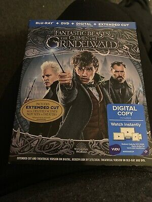 Fantastic Beasts: The Crimes Of Grindelwald Blu-Ray Dvd Digital Extended Cut
