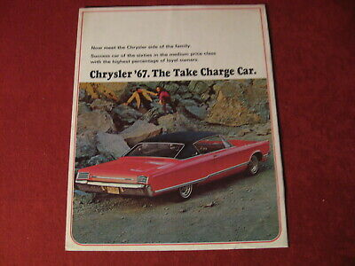 1967 Chrysler Dealer Sales Brochure Booklet Catalog Old Original Dealership
