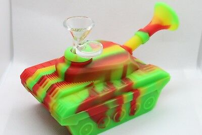 Silicon Tank Bong water pipe Smoking bong Unbreakable Silicon bong