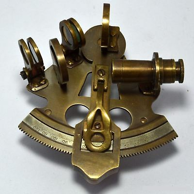 Sextant Maritime Solid Brass Nautical Sextant Astrolabe Antique Instrument 4""