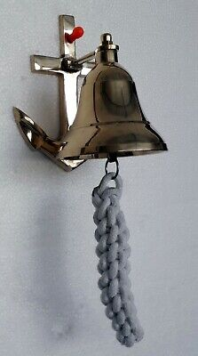 Beautiful Bell Brass Hanging Ships Bell Made of Solid Brass Multi Purpose Bell