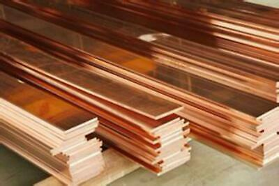1pcs 99% Copper T2 Cu Metal Flat Bar Plate Copper platoon, copper strip 1.5-8mm