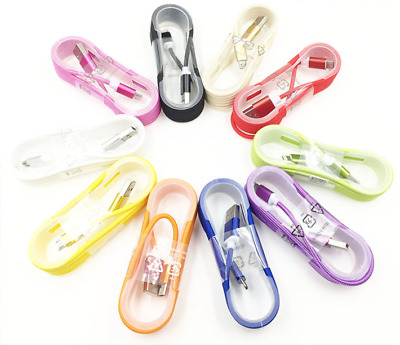 10x 5FT Braided USB Charger Cable Data Sync Charge Cord for iPhone 5 6 7 8 XS XR