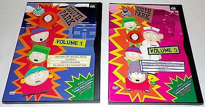 Comedy Central South Park Volume 1 & 5 DVD Cartoon Animation Adult Humor Funny