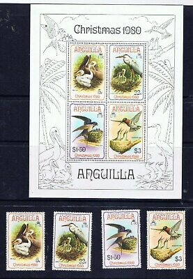 Anguilla – Christmas 1980 – Birds (F55) – Free postage