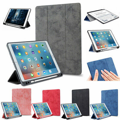 For iPad 9.7 2018 Release Smart Leather TPU Stand Case Cover With Pencil Holder