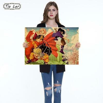 Classic Cartoon Japanese Anime Naruto F Style Kraft Paper Bar Cafe Poster Ret...