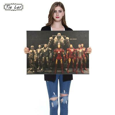 Hollywood Movie Poster Adornment Picture Iron Man Hero Character Poster Nosta...