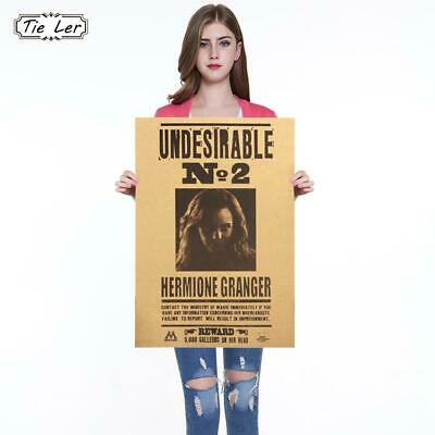Hermione Jane Granger Harry Potter Poster Undesirable No 2 Poster Decorative ...