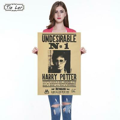 Harry Potter Poster Undesirable No 1 Vintage Kraft Poster Decorative Daily Pr...