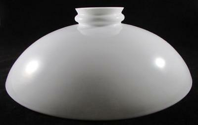 """Antique Low Profile Dome Pendant Lamp Shade 11 3/4"""" Opal White Glass Hanging"""