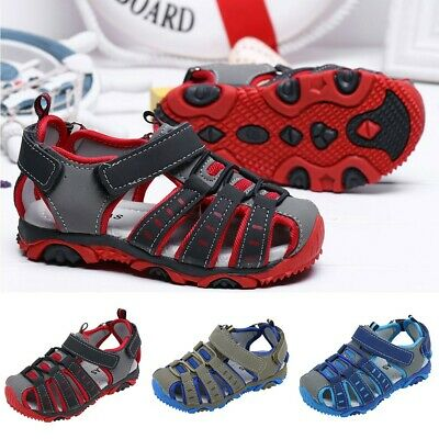 Children Kids Shoes Boy Closed Toe Summer Beach Sandals Shoes Sneakers CA