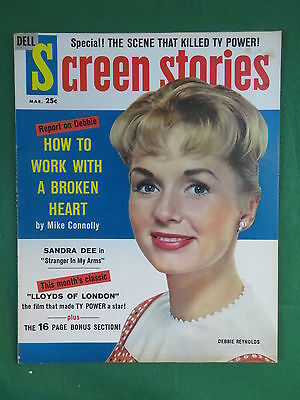 SCREEN STORIES Magazine DEBBIE REYNOLDS Cover March 1959 Vol. 58, No. 2