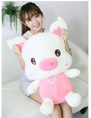24'' 60CM Big Pink Pig Swine Plush Toys Doll Giant Large Stuffed Birthday Gift