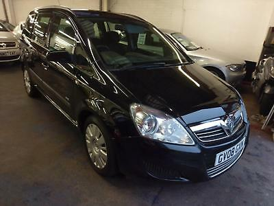 Vauxhall Zafira 1.9 Diesel 6 Speed 7 Seater Low Miles Jet Black V/clean 2008 08