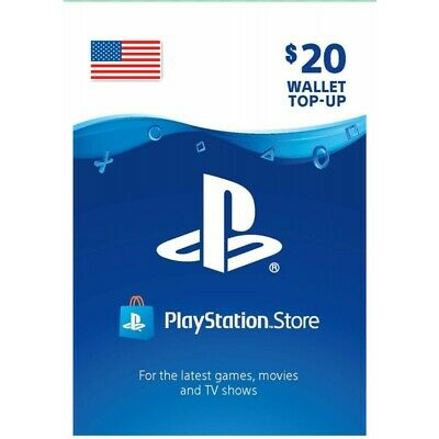 Sony US Playstation Network PSN USD 20 Card