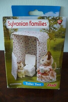 Bnisb Flair Sylvanian Families Toilet Tent, Some Box Damage, Htf