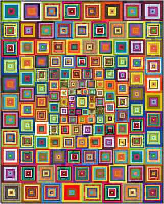 """APOCALYPSO - 91"""" x 73"""" - Pre-cut Quilt Kit by Quilt-Addicts King Single"""