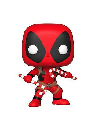 Funko Pop Bobble: Marvel: Holiday Deadpool w/Candy Canes Collectible Figure,...
